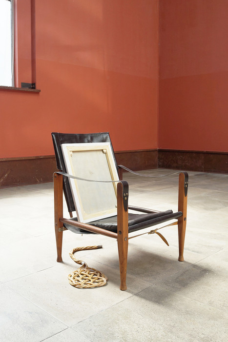 Chair with painting and beater