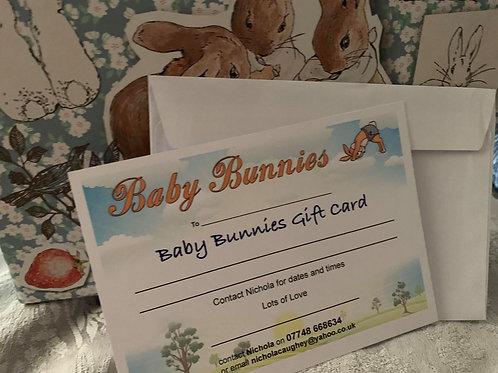 Baby Bunnies Gift Card