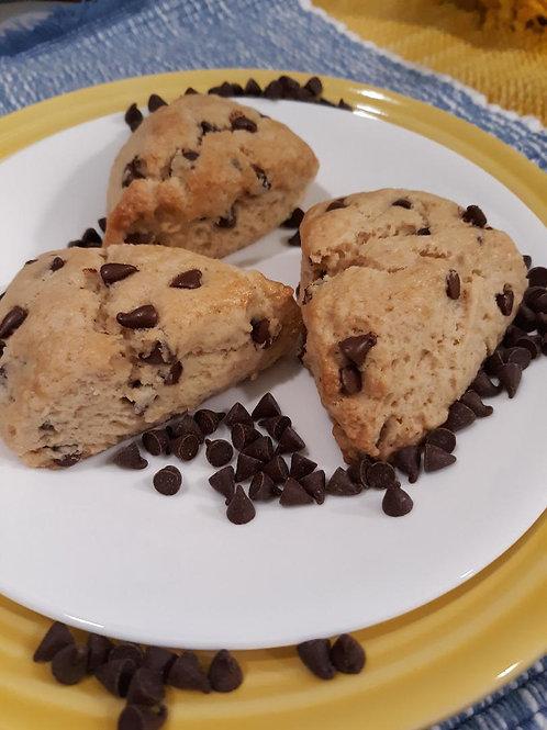 Mini Peanut Butter Chocolate Chip Scones