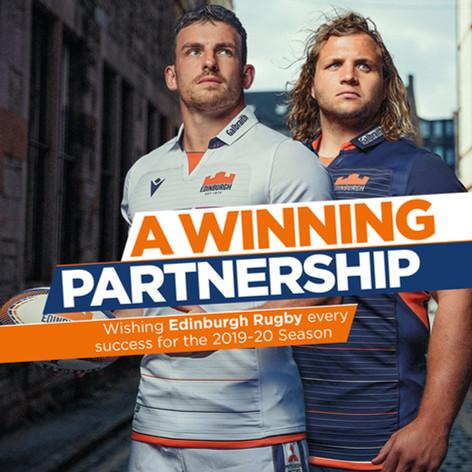 Galbraith Edinburgh Rugby advertising