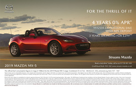 Struans Mazda advertising