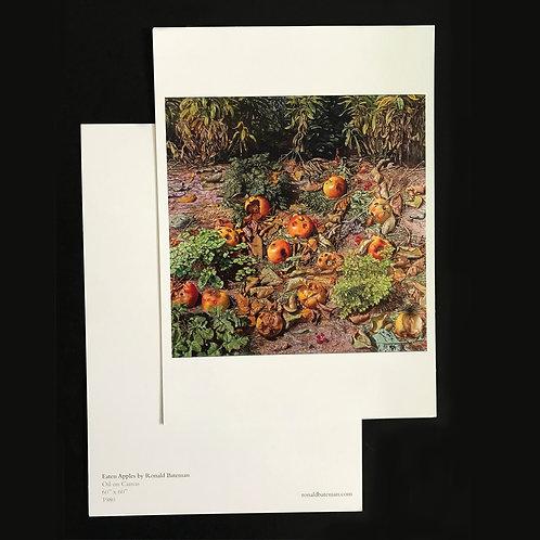 Fine Art large postcard print of 'Eaten Apples' Painting by Ronald Bateman. A5