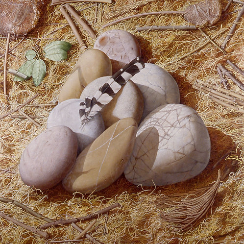 Eight Stones. Fine Art Print, signed and numbered by Artist. 40cm x 50cm