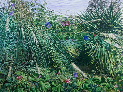 Pampas & Yucca. Fine Art Print, signed and numbered by Artist. 50cm x 40cm