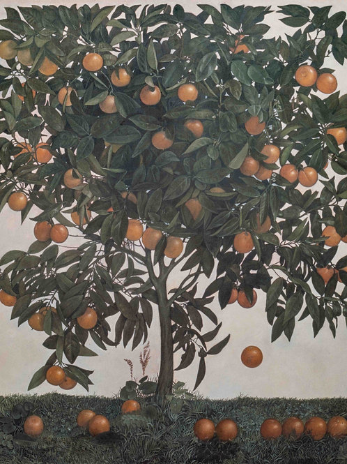 The Orange Tree. Fine Art Print, signed and numbered by Artist. 40cm x 50cm