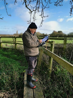 Ditch surveying  with The Community Conservation Partnership