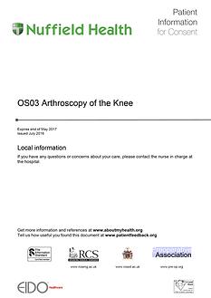Arthroscopy Patient Information