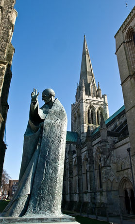 Statue of St Richard outside Chichester