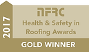 Richard Soam Roofig Services were awarded The National Federation of Roofing Contractors Gold Award for Health & Safety 2017
