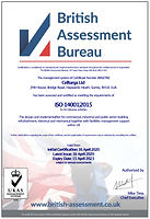 Celltarga 14001 accreditation certificate