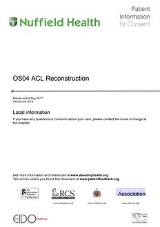 ACL Patient Information