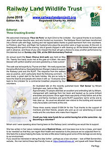 Railway Land Wildlife Trust Newsletter 95