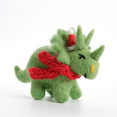 Triceratops with Hat & Scarf