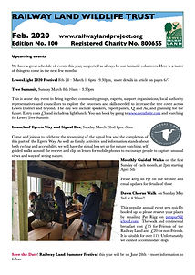 Railway Land Wildlife Trust Newsletter 100