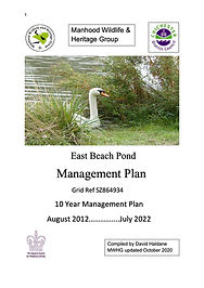East Beach Pond Management Plan August 2012-July 2022