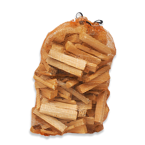 Bags of Kindling on sale at Sussex Christmas Barn