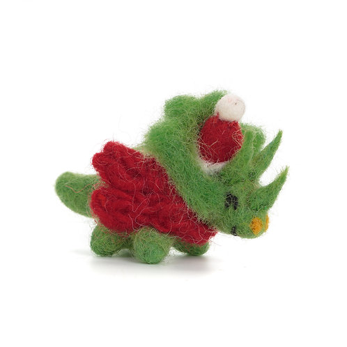 Mini Triceratops with Hat & Scarf