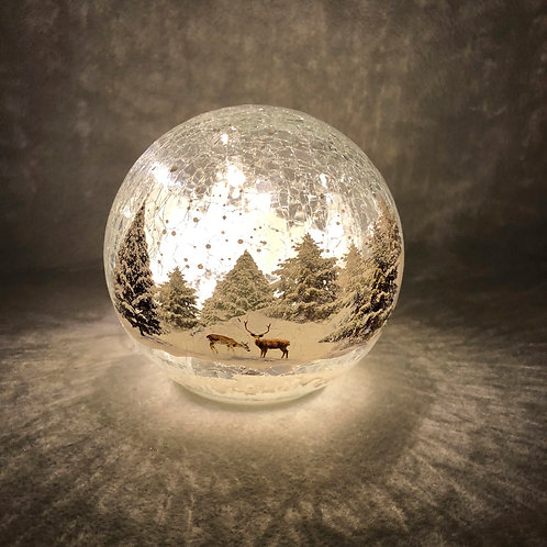 Crackle Effect Forest Scene Ball