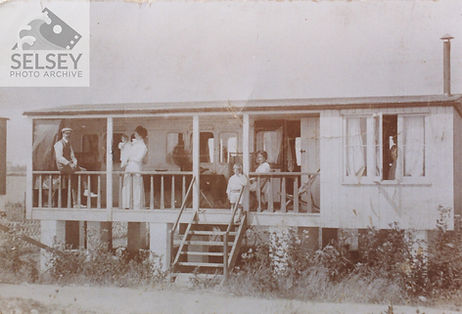 Converted railway carriage home, early 20th Century. Courtesy of Selsey Photo Archive