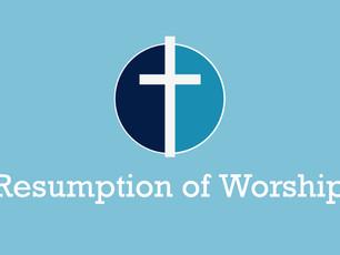 Resumption of Worship notice