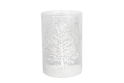 White Damask Snow Scene Glass Nite Lite/Night Light holder