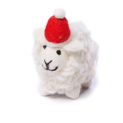 Sheep with Hat & Scarf