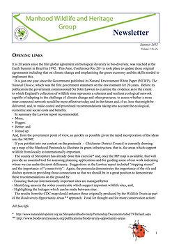 MWHG Newsletter Summer 2012
