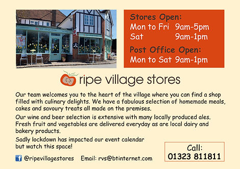 Ripe Village Stores - supporting the 2021 Villages Music Festival