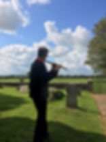 Neil McLaren in Chalvington churchyard