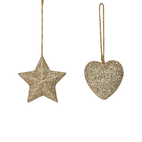Gold Glitter Resin Decorations