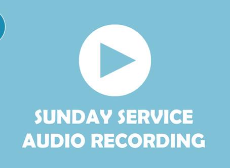 Sunday Service - audio recording