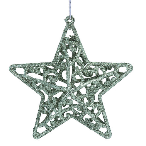 Pale Green Acrylic Filigree Star