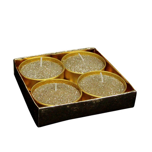 Gold Glitter Large Tea Light