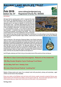 Railway Land Wildlife Trust Newsletter 97