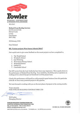 Testimonial for Richard Soan Roofing Servics from Cheesmur