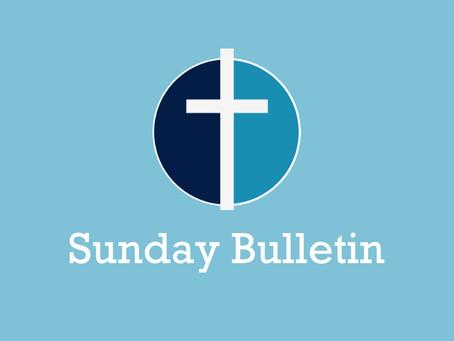 Sunday Bulletin - 10th January 2020