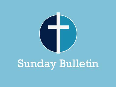 Bible Sunday - Sunday 24th October