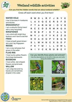KS1 Wetland Wildlife Activity Pack