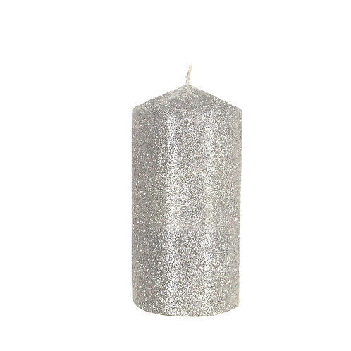 Large Silver Candle