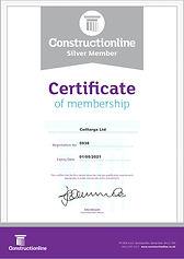 Celltarga Constructionline Certificate 2020/21