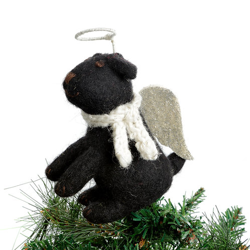 Black Labrador Tree Topper