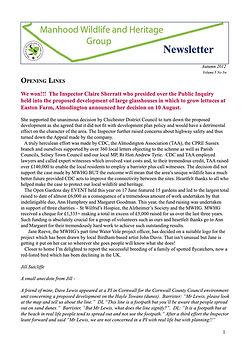 MWHG Newsletter Autumn 2012