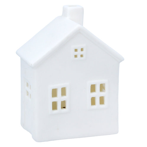 White Ceramic LED House