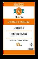 Sluurpy Certificate of Excellence