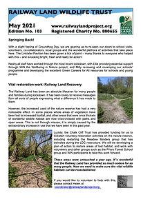 Railway Land Wildlife Trust Newsletter 103