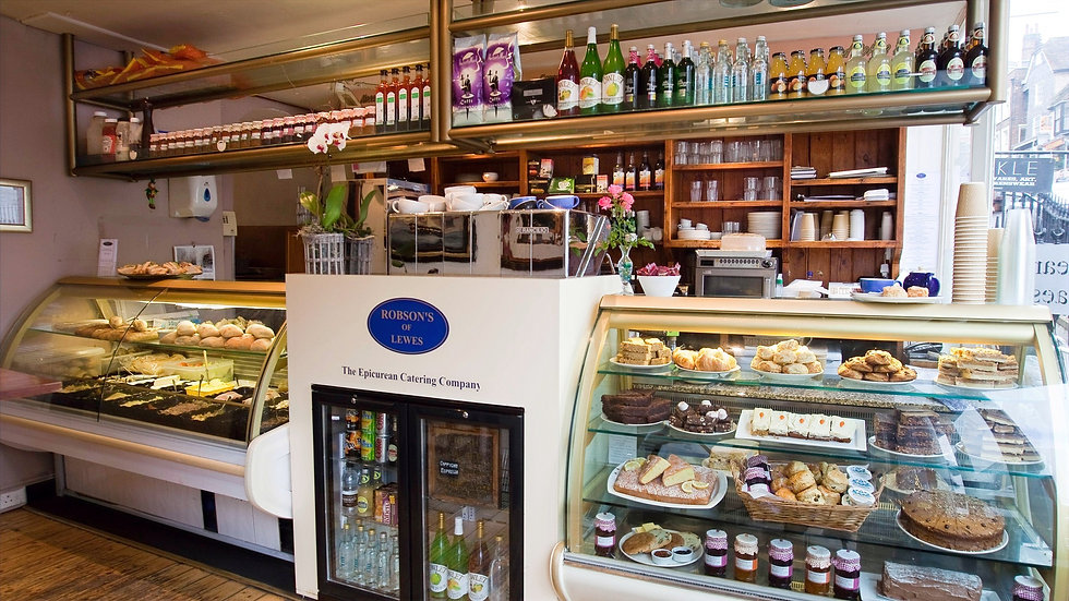 Robson's of Lewes offer a huge selection of food and drink for takeaway.