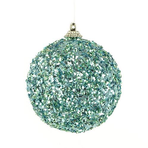Blue glitter bauble