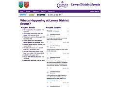 Lewes Scouts website
