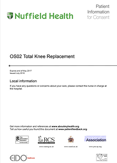 Total Knee Replacment Patient Information