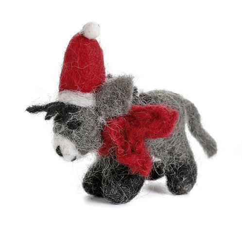 Donkey with Hat & Scarf